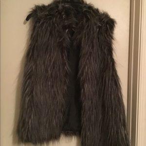 New direction faux fur vest